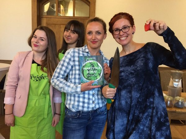 Warzywa górą - ekipa twórcza podczas premiery książki