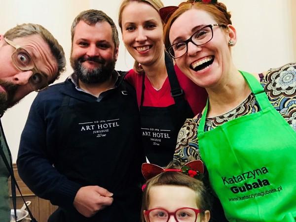 Warsztaty kulinarne we Wrocławiu to okazja do spotkań: Mała Cukierenka, Bartek Sadowski, Katarzyna Gubała, Michał Kucharski.
