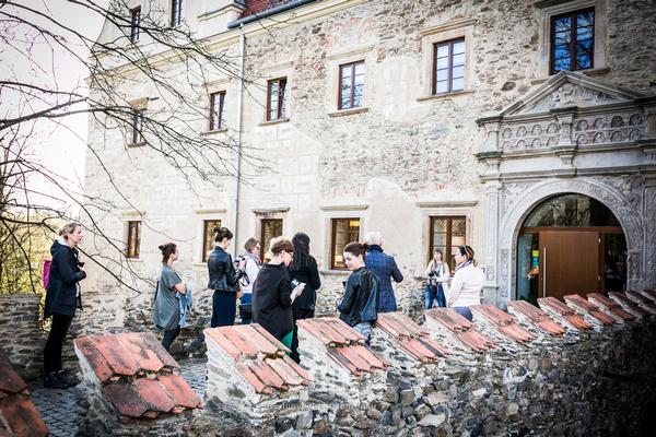 O ekologii, pasji do jedzenia i ciekawostkach historycznych wyjątkowego miejsca opowiadał uczestnikom sam właściciel: Marek Gendaj