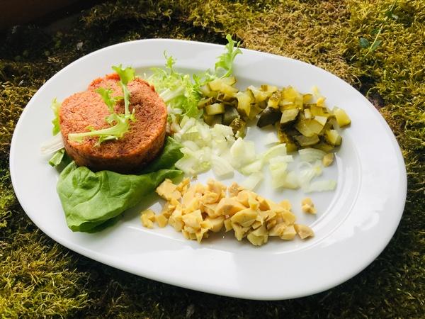 Opcja wegańska w menu śniadaniowym to w Folwarku Łękuk standard