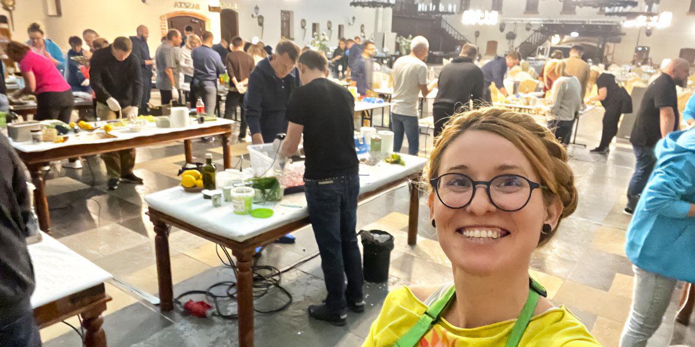 Integracyjne warsztaty gotowania na 130 osób w krzyżackim zamku Ryn