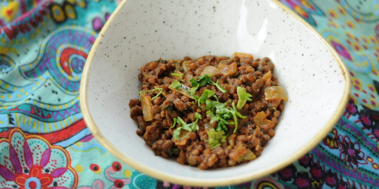 Gulasz z soczewicy czerwonej - szybkie wege danie w kwadrans